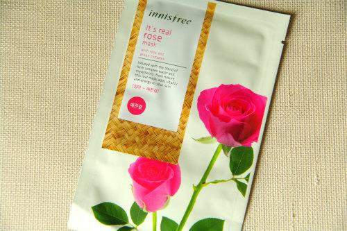 【イニスフリー】新商品ローズ薔薇!イッツリアル シートマスク