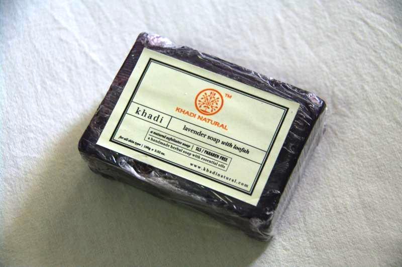 インドコスメ カディ/Khadi ナチュラル 手作りソープ ラベンダー石鹸