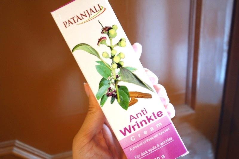【パタンジャリ】良質の天然ハーブで作られたシワ・シミ改善・予防する『アンチリンクルクリーム』