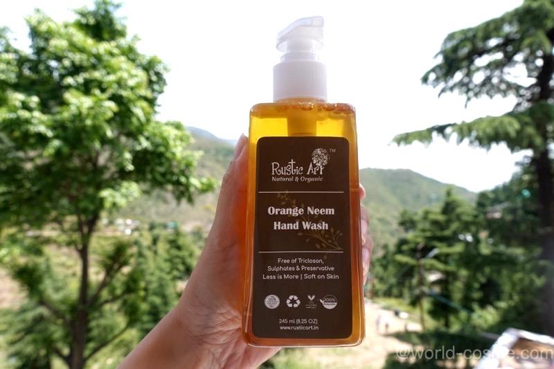 【Rustic Art】植物オイルをベースにして作られた「オレンジニーム・ハンドウォッシュ」india handwash
